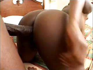 Order about ebony princess, Sierra, gets her holes boned by a big moonless cock