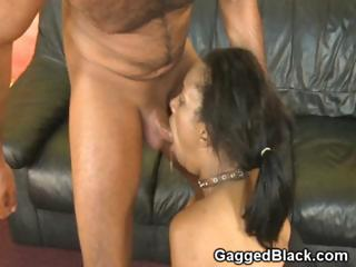 Deadly Chick Reject b do away with Cuffed Coupled with Collared During Face Fuck