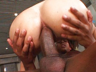 Black hottie goes anal added to vaginal