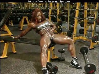 Staggering Video With Muscled Babe