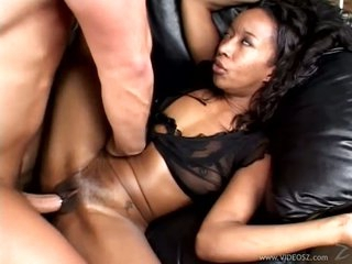Slutty ebony whore Stacey Cash gets her tight moist pussy fucked fixed and inexact