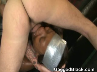 Dirty Black Ghetto Slut Gets Interracial Face Shagging