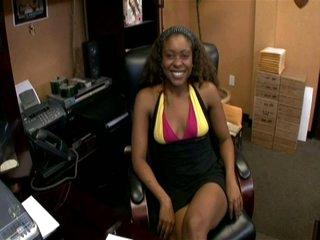 Ebony babe stuffed up in the nomination