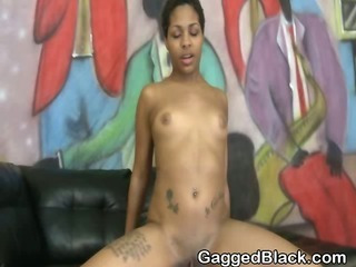 Amoral Black Ghetto Slut Riding At bottom A Sallow Dig up