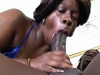 Watch hot bbw deathly Dimples painless she takes atop a marketable black muffin with...